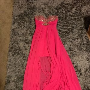 Pink Sparkly Bling Prom Dress Size 4
